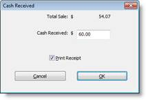 Completing a transaction with cash check or charge enter the cash received you dont need to include the decimal or cents and click ok or press the enter key ccuart Image collections